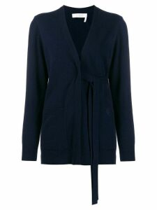 Chloé tie-waist cardigan - Blue