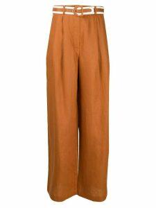 Zimmermann Super Eight wide-leg trousers - Brown