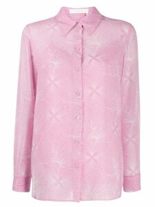 See By Chloé embroidered long-sleeve shirt - PINK