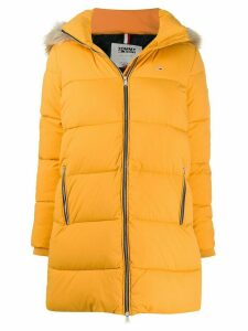 Tommy Jeans hooded puffer jacket - Yellow