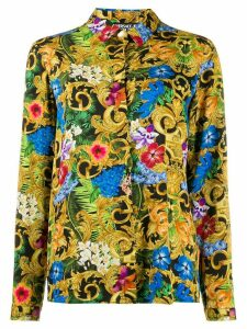 Versace Jeans Couture Baroque floral-print shirt - Black