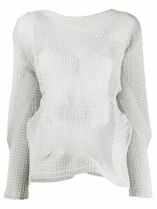 Issey Miyake deconstructed knit jumper - Grey