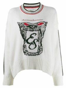 Ermanno Scervino logo knitted sweatshirt - Neutrals