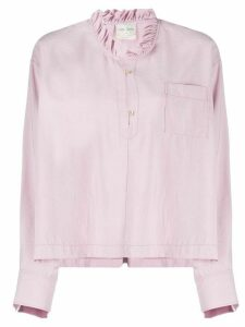 Forte Forte ruffled collar long-sleeved blouse - PINK
