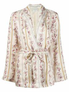 Forte Forte floral waist-tied blazer - PINK
