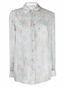 See By Chloé sheer floral-print shirt - Grey