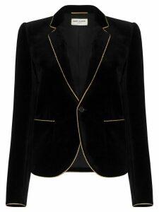 Saint Laurent grosgrain trim blazer - Black