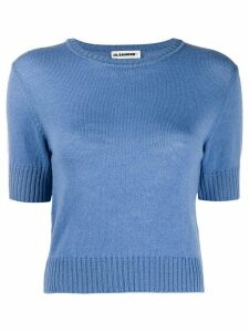 Jil Sander short-sleeved knitted top - Blue