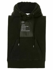 Takahiromiyashita The Soloist Bones patch sleeveless hoodie - Black