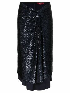 Sies Marjan Kayla sequinned asymmetric midi skirt - Blue