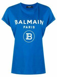 Balmain logo-printed T-shirt - Blue