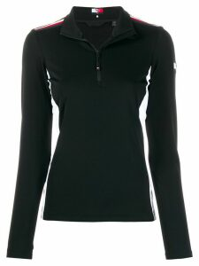 Tommy Hilfiger panelled half zip sweatshirt - Black