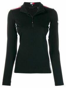 Tommy Hilfiger panelled half zip sweatshirt - Black