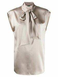 Joseph Nancy neck tie blouse - Grey