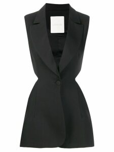 Loulou cut-out tailored top - Black