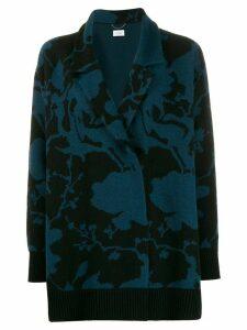 Salvatore Ferragamo floral print cardigan - Blue