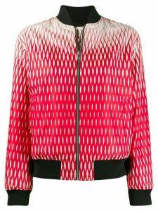 Kenzo geometric-print reversible bomber jacket - Red