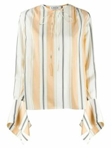 LANVIN statement sleeve blouse - NEUTRALS