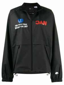 adidas Originals by Alexander Wang printed shell jacket - Black