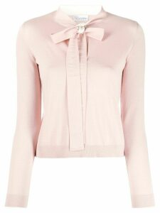 RedValentino pussy bow jumper - PINK