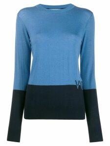 Victoria Victoria Beckham two-tone logo cashmere jumper - Blue