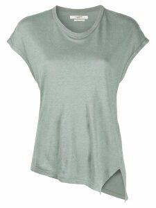 Isabel Marant Étoile asymmetric hem T-shirt - Green