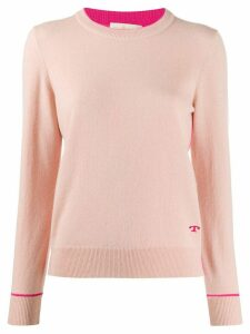 Tory Burch crew neck cashmere jumper - PINK