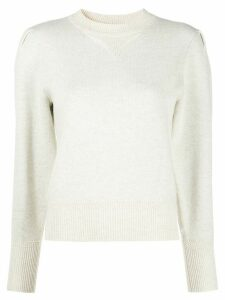 Isabel Marant Étoile pleat sleeve jumper - NEUTRALS