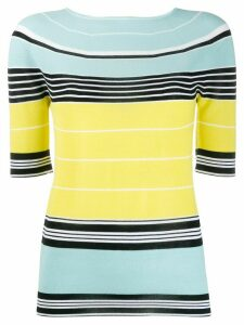 LANVIN striped knit top - Blue