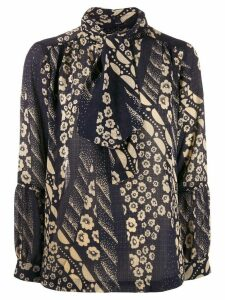 Ba & Sh floral tie blouse - Blue