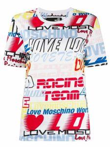 Love Moschino logo graphic T-shirt - White