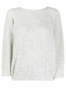 Ba & Sh long-sleeve fitted top - Grey