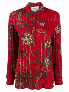 Ba & Sh Petunia floral shirt - Red