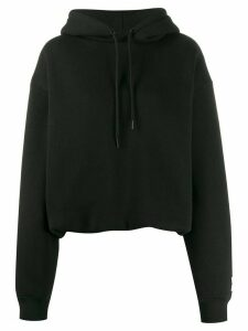 T By Alexander Wang oversized knitted hoodie - Black