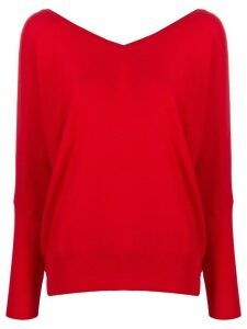 Ba & Sh long-sleeve shift top - Red