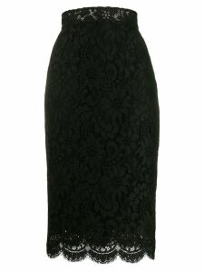 Dolce & Gabbana high-waisted lace pencil skirt - Black