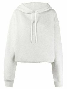 T By Alexander Wang oversized knitted hoodie - Grey
