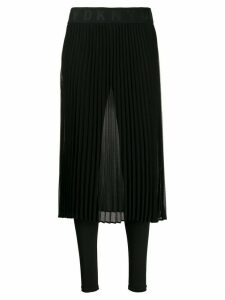 DKNY sheer pleated skirt - Black