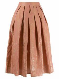 Fabiana Filippi pleated A-line skirt - PINK