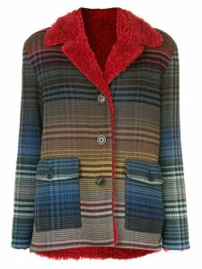 Missoni gradient-effect plaid jacket - Blue