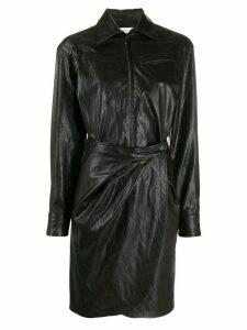 Ba & Sh faux leather shirt dress - Brown