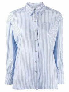 Ba & Sh boxy pinstripe shirt - Blue