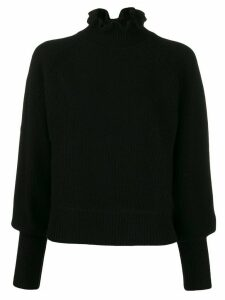 Ba & Sh Raph ruffled neck jumper - Black