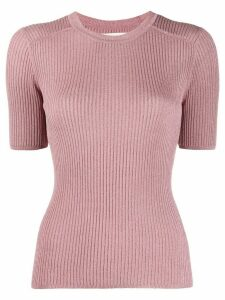 Ba & Sh Zoe ribbed knit top - PINK