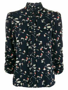 Ba & Sh Saura ruffled-neck blouse - Blue