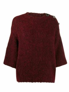 Ba & Sh embellished Pepite jumper - Red