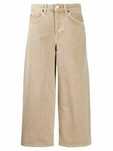 Ba & Sh Volt wide leg cropped jeans - NEUTRALS