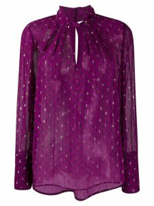 Ba & Sh paisley print long-sleeve blouse - PURPLE