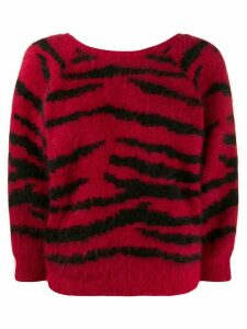 Ba & Sh Zaya animal patterned sweater - Red