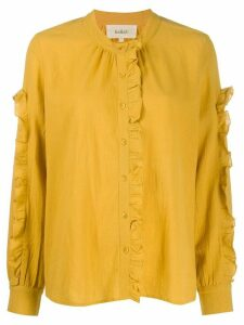 Ba & Sh frill-trim long sleeve blouse - Yellow